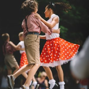 Kids dancing on stage