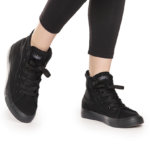 CLASSICIIHIGW Black Hi-Top Sneakers